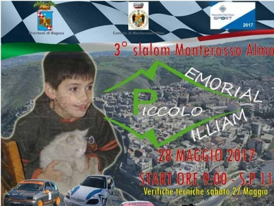 "Domenica il ""3° Slalom di Monterosso Almo Memorial il piccolo William"""