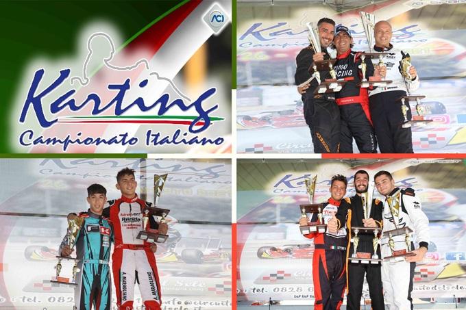 Podi e soddisfazioni tricolori per i siciliani nel Karting