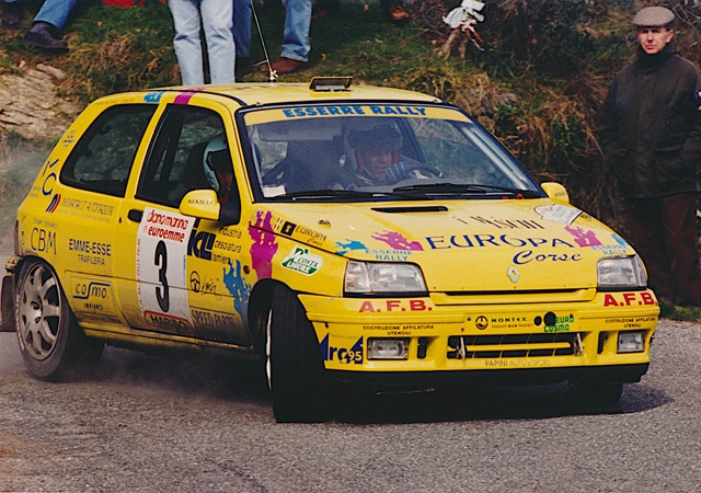 "LA RENAULT CLIO WILLIAMS GR. A LA ""REGINA"" AL 6° RALLY DAY DI POMARANCE"
