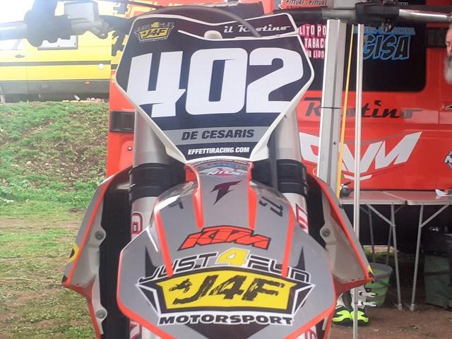 Motocross: a sorpresa Lorenzo De Cesaris di nuovo a Vetralla con la 125 Senior