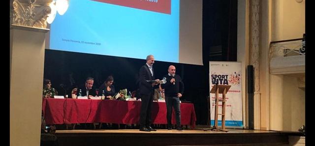 Il pilota Vittorio Musselli premiato alla Conferenza Regionale dello Sport.