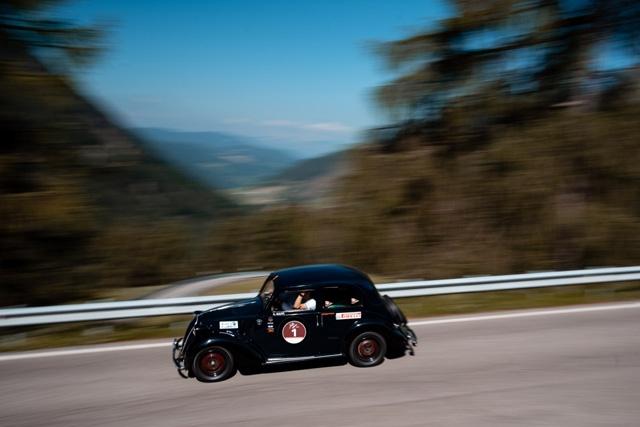 Aliverti e Casadei su Fiat 508 CV del 1937 si aggiudicano per la prima volta la «Stella Alpina»