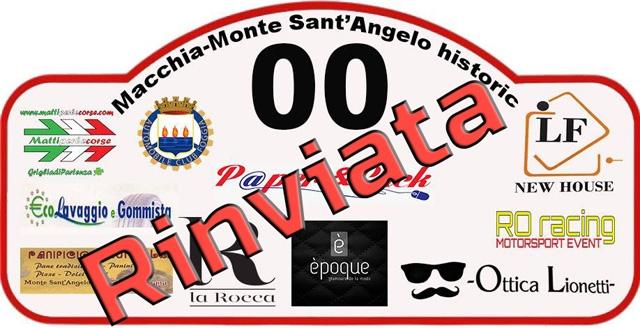 Macchia Monte Sant'Angelo Historic riviata a data da destinarsi