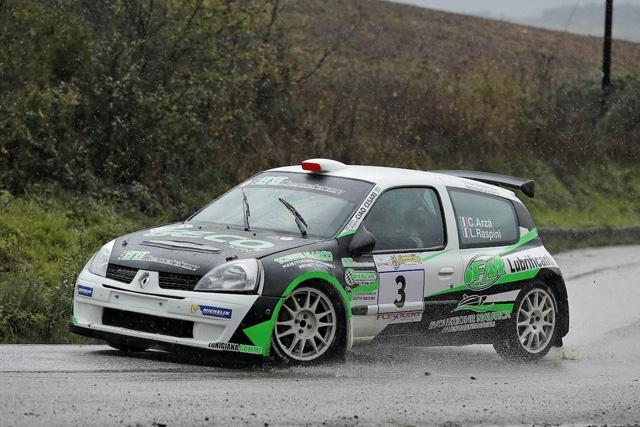 6° RALLY DAY DI POMARANCE:  IL SUCCESSO E' PER ARZA'-RASPINI (Renault Clio S1600)