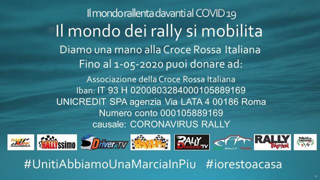 IL MONDO DEI RALLY CONTRO IL CORONAVIRUS: #UnitiAbbiamoUnaMarciaInPiu