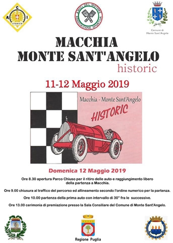 Elenco Partenti Macchia – Monte Sant'Angelo Historic
