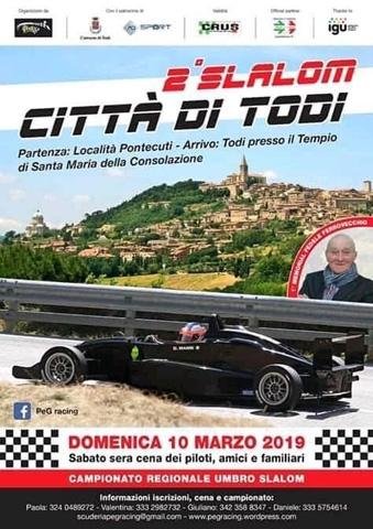 1° Autoslalom Pontecuti Todi - Elenco iscritti