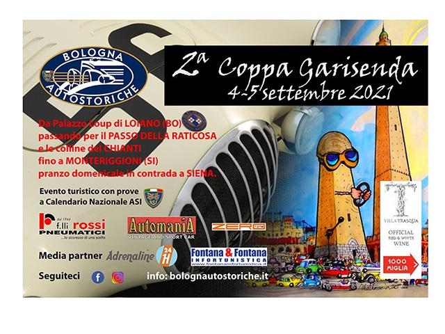 COPPA GARISENDA 2021  4-5 SETTEMBRE ISCRIZIONI APERTE!!!
