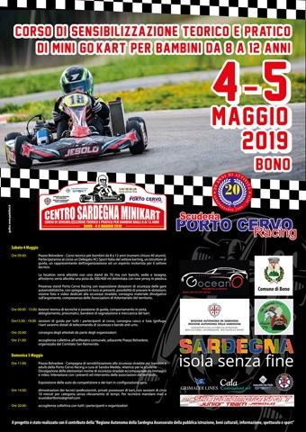 """Il 4 e 5 maggio appuntamento a Bono con il """"Centro Sardegna Minikart""""."""