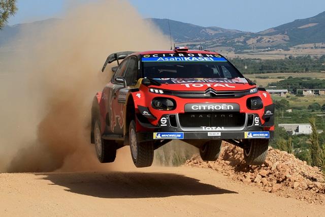 OGIER-INGRASSIA (CITROEN C3 WRC) SUBITO IN TESTA AL RALLY ITALIA SARDEGNA 2019