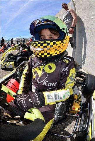 Campionato Italiano ACI Karting: a Lecce Samuele Giannini va forte e arriva in Top Ten!