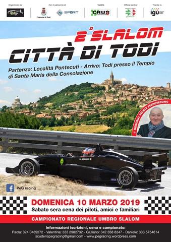 Il 10 marzo il 2°Autoslalom Pontecuti Città di Todi