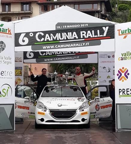 HP SPORT sul gradino più alto della R2B con Trevisani-Faustini al 6° Camunia Rally, che chiudono la gara al decimo posto assoluto