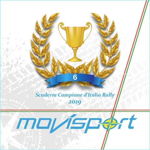 """Movisport ancora """"tricolore"""":conquistato il sesto titolo consecutivo per scuderie"""