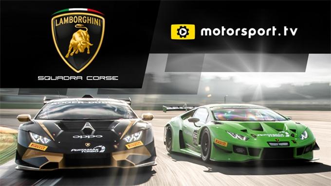 Lamborghini Squadra Corse lancia il canale dedicato con Motorsport.tv
