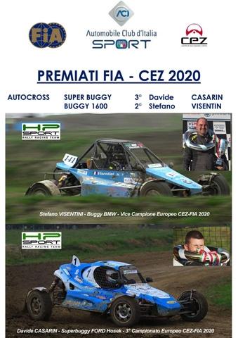 HP Sport RRT con i piloti Casarin e Visentini tra i premiati FIA CEZ 2020 Autocross per i brillanti risultati conseguiti nella stagione