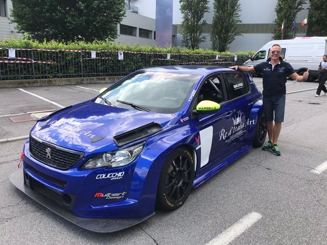 Giovanni Loffredo su Peugeot al 50° Trofeo Vallecamonica