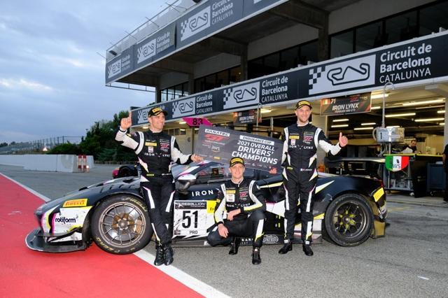 Fanatec GT World Challenge: Pier Guidi / Ledogar / Nielsen con la Ferrari Iron Lynx si aggiudicano il titolo piloti della Endurance Cup