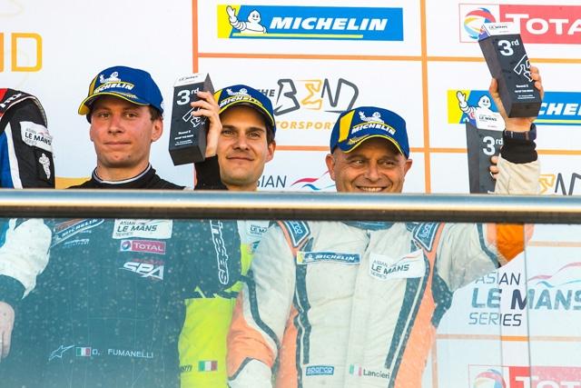 Podio della svolta per ACE1 Villorba Corse nell'Asian Le Mans Series