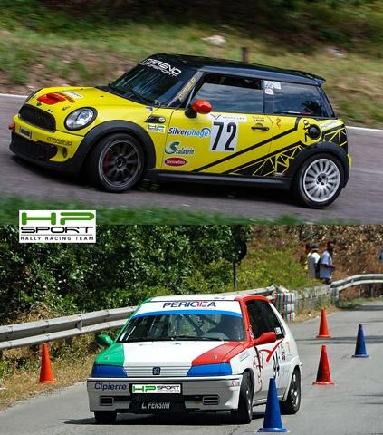 HP Sport RRT a Raccodaspide  per lo slalom 'Tricolore' con i piloti Luca Fersini e 'King Dragon'