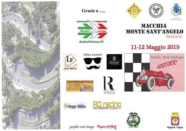 Tutte le info sulla Macchia - Monte Sant'Angelo Historic dell' 11 e 12 Maggio 2019