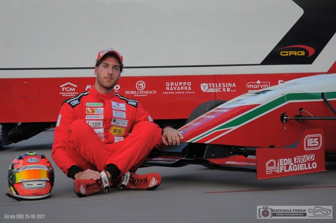 Valentino Carofano al via del F. Challenge a Sarno
