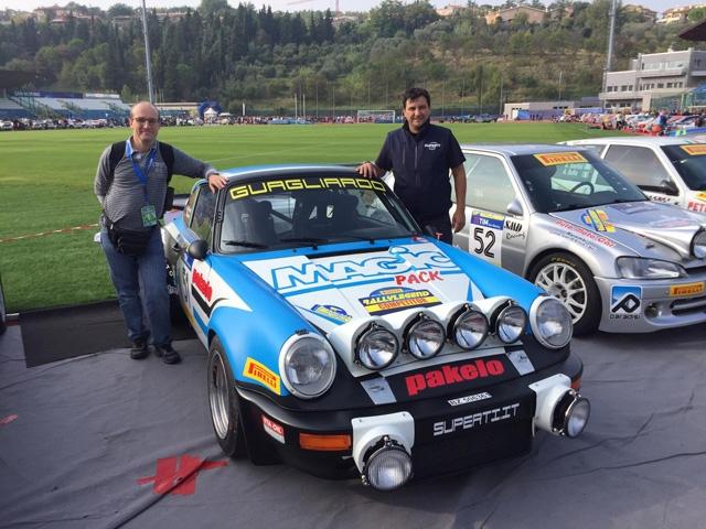 Marco Superti e Battista Brunetti pronti al via del Rallylegend per la Squadra Corse Angelo Caffi