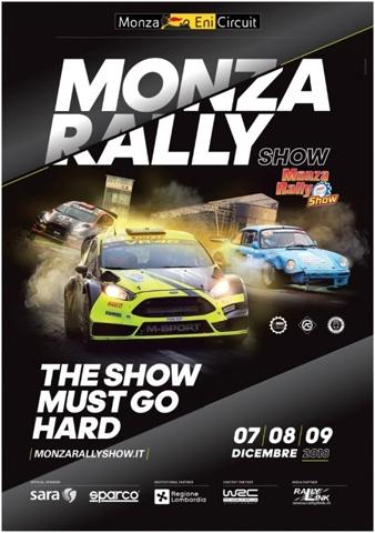 Monza Rally Show, al via le iscrizioni per gli equipaggi