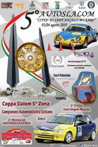 Tutto pronto per la 5° edizione dell'Autoslalom  Città  Sant'Angelo di Muxaro