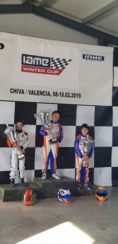 MONZA REGALA IL PODIO AL TEAM DRIVER ALLA IAME WINTER CUP.