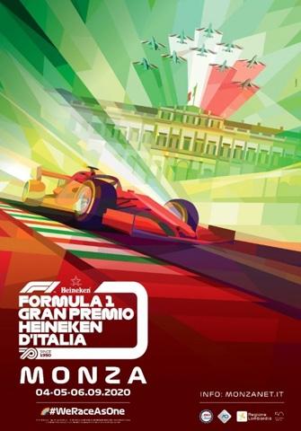 Presentato il poster ufficiale del Formula 1 Gran Premio Heineken d'Italia 2020