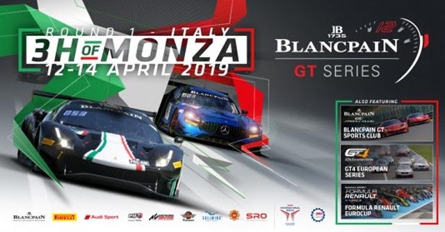3H of Monza: al via quasi 50 vetture per la Blancpain GT Series al Monza Eni Circuit