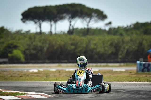 Paparo centra l'obiettivo nel CIK FIA a Sarno