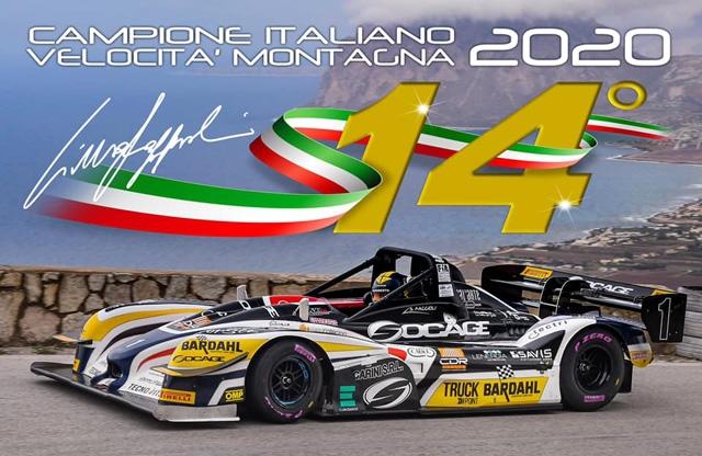 Simone Faggioli è Campione Italiano Velocità Montagna 2020