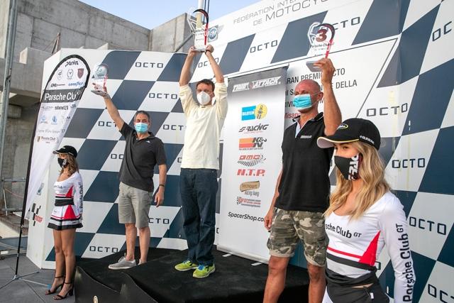 """Poker di vincitori """"al limite"""" nella prima del Porsche Club GT a Misano"""