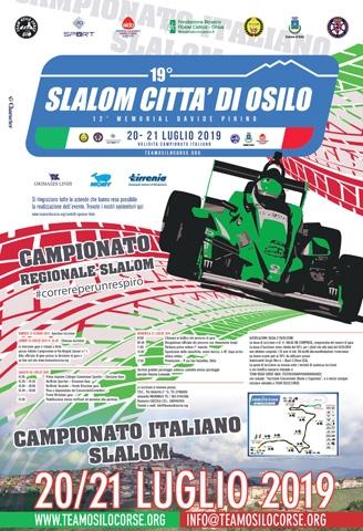 19° SLALOM CITTA' DI OSILO 12° MEMORIAL DAVIDE PIRINO SERIE AIDO CUGLIERI CAMPIONATO ITALIANO SLALOM OSILO 20.21 LUGLIO 2019 AUTOMOBIL
