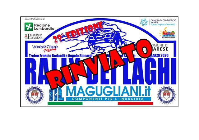 RINVIATO IL RALLY DEI LAGHI