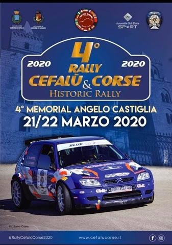 Il 4° Rally Cefalù Corse avrà una nuova data