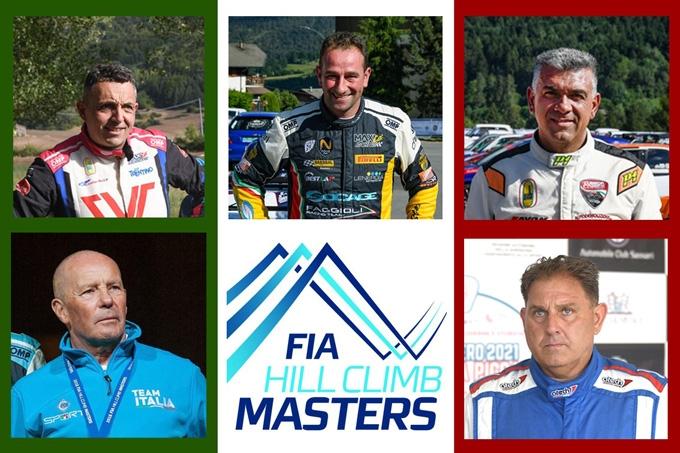 La nazionale italiana pronta per il FIA Hill Climb Masters