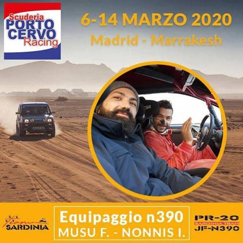 La Porto Cervo Racing al via del Panda Raid con l'equipaggio Musu-Nonnis.