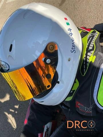 I fratelli Francesco e Stefano Norelli impegnati nel kartodromo di Casaluce