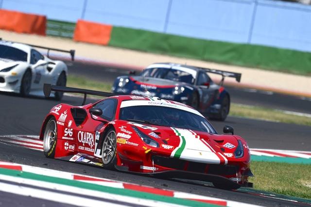 Pole e primo podio di Rovera sulla Ferrari nel Tricolore GT a Misano