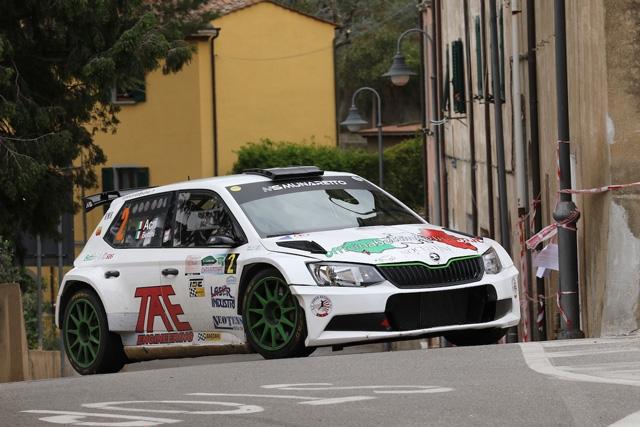 Il 5° Rally Colline Metallifere e Val di Cornia parla elbano:  vincono Bettini/Acri (Skoda Fabia R5)