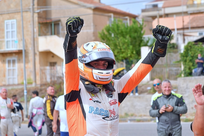 Cubeda con la Nazionale Italiana delle cronoscalate al FIA Masters