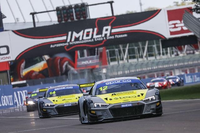 Campionato Italiano Gran Turismo Sprint: Ferrari-Agostini (Audi R8 LMS) si aggiudicano la gara 1 del 3° round a Imola
