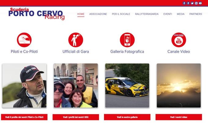 Nuova veste grafica per il sito www.portocervoracing.it