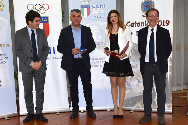 Cubeda premiato dal Coni Catania con la Medaglia al valore atletico