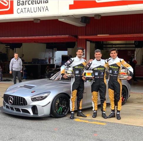 Primi test per Villorba Corse con Mercedes-AMG ed ACE1 a Barcellona