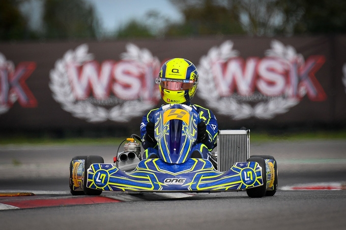 Allo start della WSK Open Cup di Adria anche Lando Norris  per la presentazione del suo nuovo kart