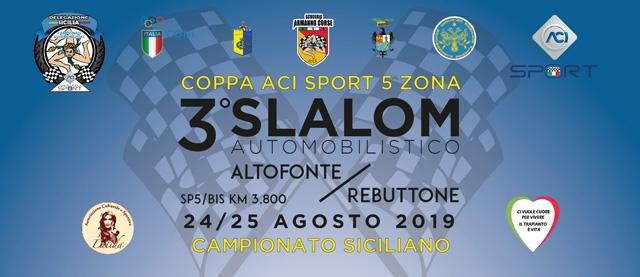 Tutto pronto per la terza edizione dello Slalom Automobilistico Altofonte/Rebuttone